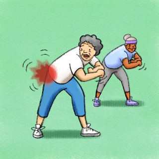 Elderly Hip Pain Artwork