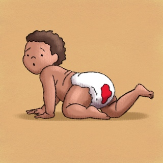 WDIDN: Bloody Diaper Artwork